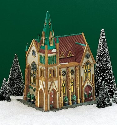 Village Idiotz - Department 56 - Christmas In The City Series - All Saints Corner Church - 56-55425