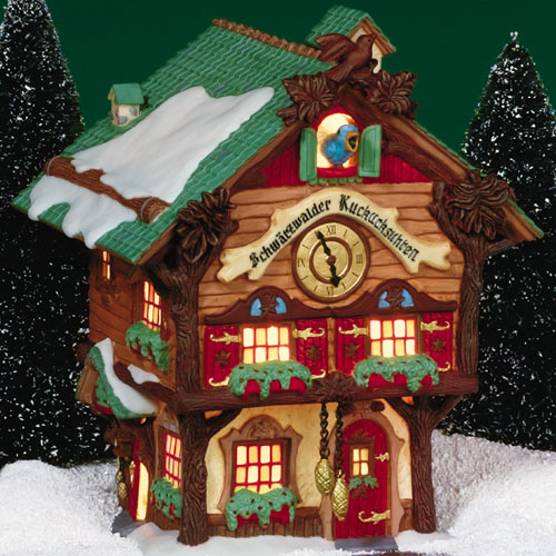 Village Idiotz - Department 56 - Alpine Village Series - Schwarzwalder Kuckucksuhren Cuckoo Clock Shop (56-56220)