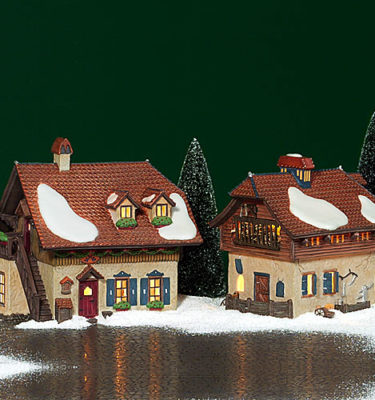 Village Idiotz - Department 56 - Alpine Village Series - Bauernhof Drescher