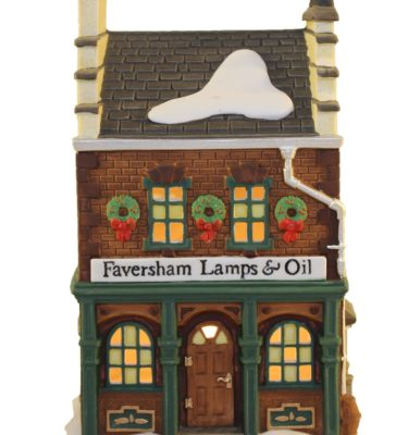 Village Idiotz - Department 56 - Dickens' Village Series - Faversham Lamps & Oil - 56-58327