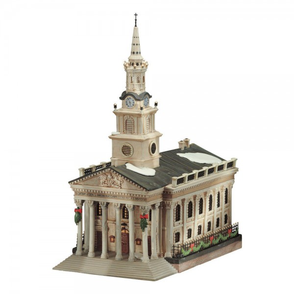 department 56 dickens village series st martin in the fields church 56 58471 village. Black Bedroom Furniture Sets. Home Design Ideas