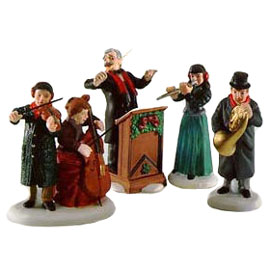 Village Idiotz - Department 56 - Christmas In The City Series - Chamber Orchestra - 56-58840