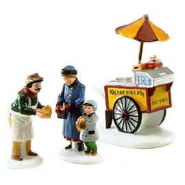 Village Idiotz - Department 56 - Christmas In The City Series - Hot Dog Vendor - 56-58866