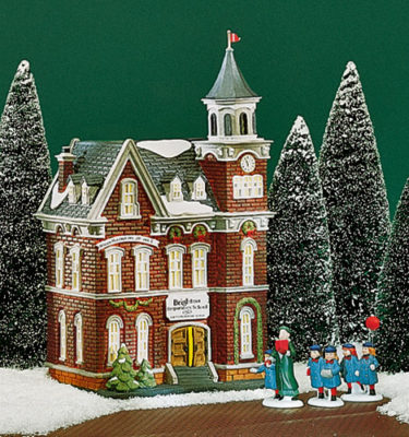 Village Idiotz - Department 56 - Christmas In The City Series - Brighton School - 56-58876