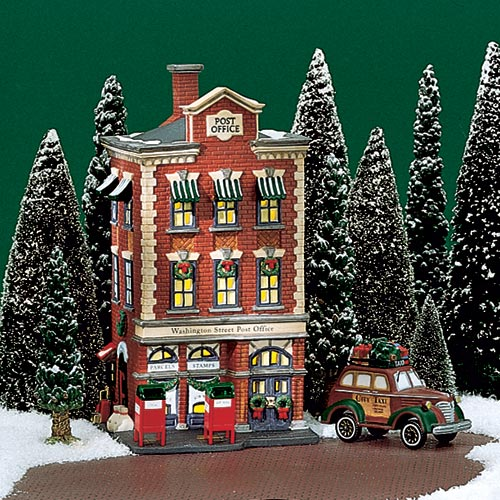 village idiotz department 56 christmas in the city series washington street post office - Post Office Christmas Hours