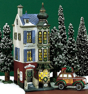 Village Idiotz - Department 56 - Christmas In The City Series - Café Caprice French Restaurant - 56-58882
