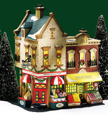 Village Idiotz - Department 56 - Christmas In The City Series - Johnson's Grocery and Deli - 56-58886