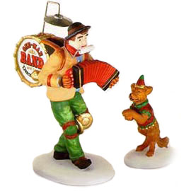 Village Idiotz - Department 56 - Christmas In The City Series - One-Man Band And The Dancing Dog - 56-58891