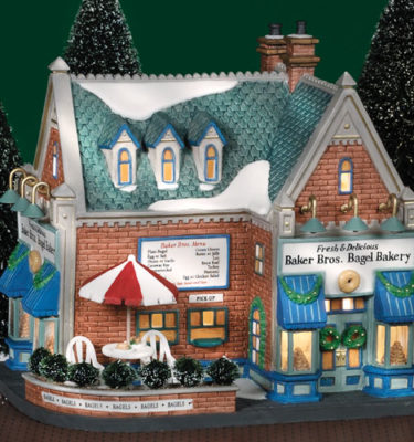 Village Idiotz - Department 56 - Christmas In The City Series - Baker Bros. Bagel Bakery - 56-58920