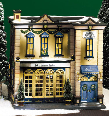 Village Idiotz - Department 56 - Christmas In The City Series - 5th Avenue Salon - 56-58950