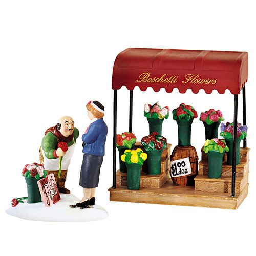 Village Idiotz - Department 56 - Christmas In The City Series - Fresh Flowers For Sale - 56-58957