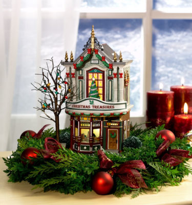 Village Idiotz - Department 56 - Christmas In The City Series - Christmas Treasures - 56-59240