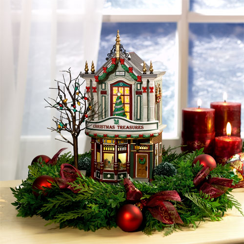 Village Idiotz - Department 56 - Christmas In The City Series - Christmas Treasures - 56