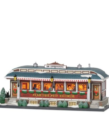 Village Idiotz - Department 56 - Christmas In The City Series - American Diner
