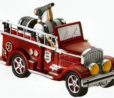 Village Idiotz - Department 56 - Christmas In The City Series - City Fire Dept. Fire Truck