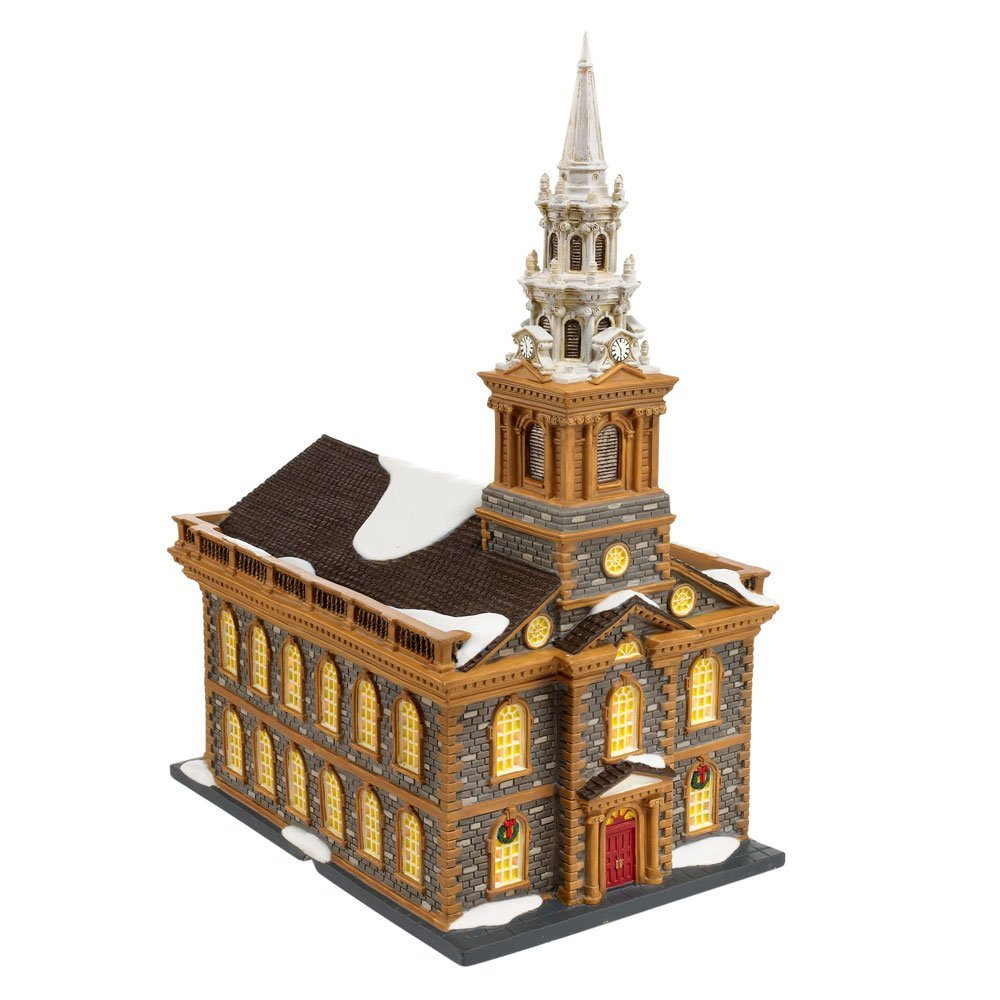 department 56 christmas in the city series st paul 39 s chapel 4020173 village idiotz shop. Black Bedroom Furniture Sets. Home Design Ideas
