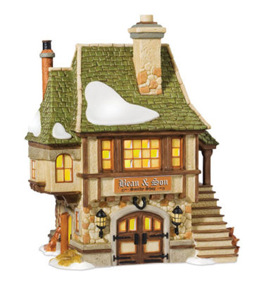 Village Idiotz - Department 56 - Dickens' Village Series - Bean And Son Smithy Shop - 808841