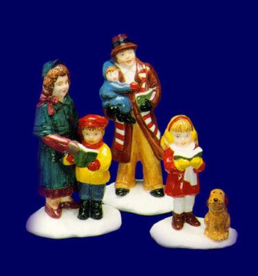 Village-Idiotz-Department-56-51055-The-Original-Snow-Village-Series-Caroling-Family