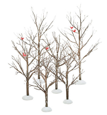 Village-Idiotz-Department-56-52623-The-Original-Snow-Village-Series-Village-Bare-Branch-Trees
