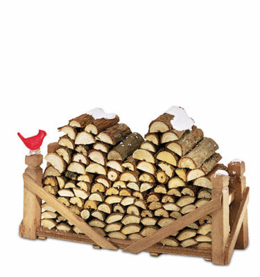 Village-Idiotz-Department-56-52665-The-Original-Snow-Village-Series-Village-Log-Pile