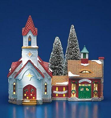 Village-Idiotz-Department-56-54240-The-Original-Snow-Village-Series-Good-Shepard-Chapel-And-Church-School