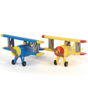 Village-Idiotz-Department-56-54585-The-Original-Snow-Village-Series-Spirit-Of-Snow-Village-Airplane