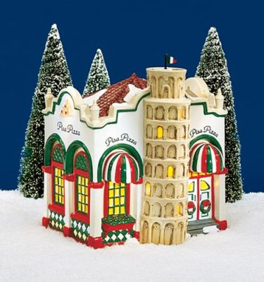 Village-Idiotz-Department-56-54851-The-Original-Snow-Village-Series-Pisa-Pizza