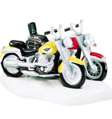 Village-Idiotz-Department-56-54900-The-Original-Snow-Village-Series-Harley-Davidson-Fat-Boy-And-Softail