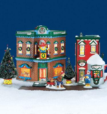 Village-Idiotz-Department-56-54902-The-Original-Snow-Village-Series-Start-A-Tradition-Set