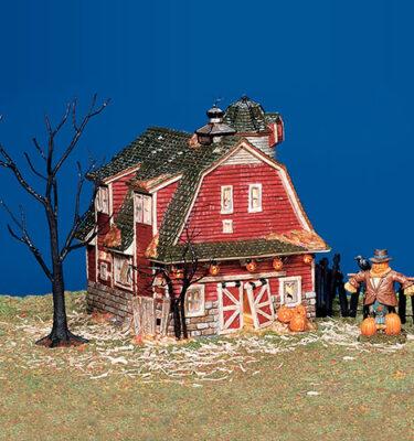 Village-Idiotz-Department-56-55060-The-Original-Snow-Village-Halloween-Series-Haunted-Barn
