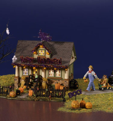 Village-Idiotz-Department-56-55343-The-Original-Snow-Village-Halloween-Series-1031-Trick-Or-Treat-Drive