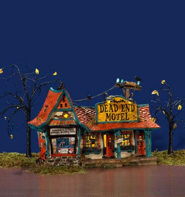 Village-Idiotz-Department-56-55377-The-Original-Snow-Village-Halloween-Series-Dead-End-Motel