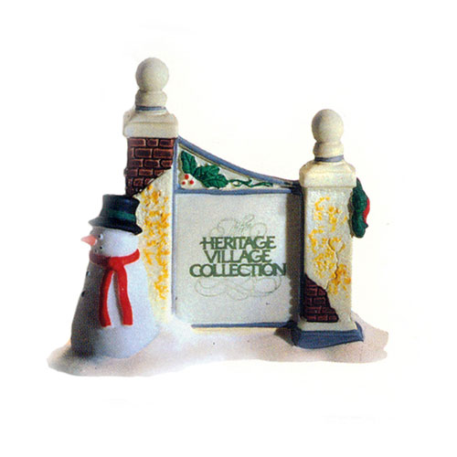 Christmas Village Accessories.Department 56 Village Accessories Village Sign With Snowman 56 55727