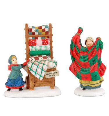Village-Idiotz-Department-56-56594-New-England-Village-Series-Christmas-Bazaar-Handmade-Quilts