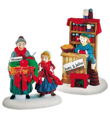Village-Idiotz-Department-56-56595-New-England-Village-Series-Christmas-Bazaar-Woolens-And-Preserves