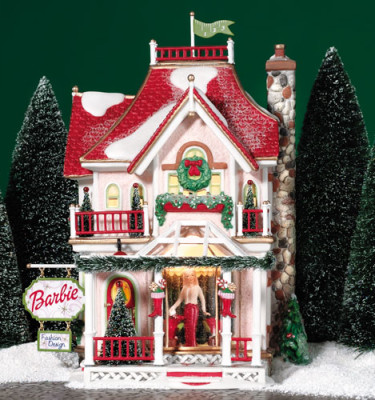 Village-Idiotz-Department-56-56739-North-Pole-Series-Barbie-Boutique