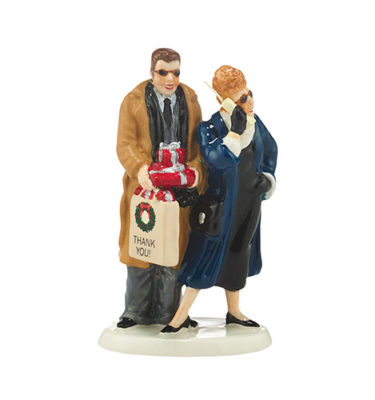 Village Idiotz - Department 56 - The Original Snow Series - Shopping with Todd and Margo - 4043911